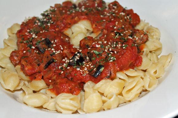 Auberginen-Tomaten-Ragout