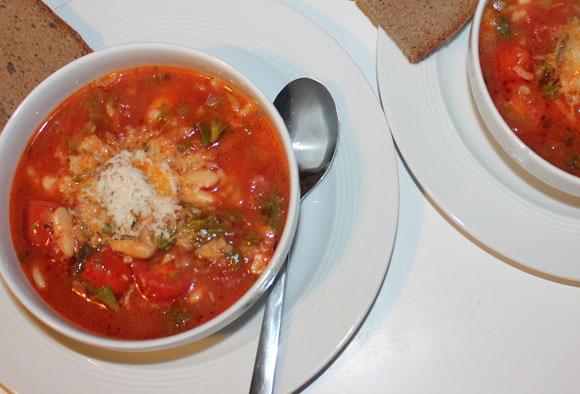 Bohnensuppe auf italienische Art – Minestrone