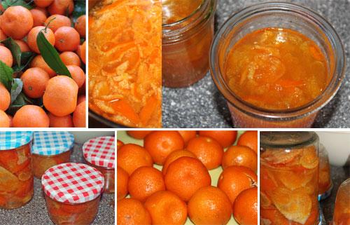 Sirup und Mandarinen Marmelade auf türkische Art