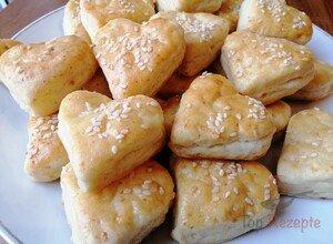 Herz-Käsepogatschen zum Verlieben