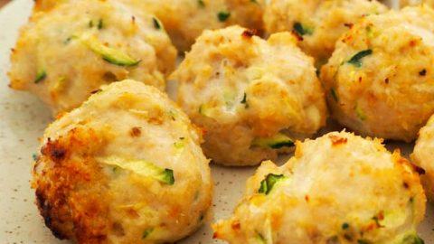 Zucchinibällchen mit Käse zum abnehmen