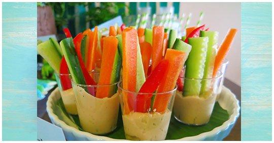 gesunde Gemüse Snack – Fingerfood mit Dip