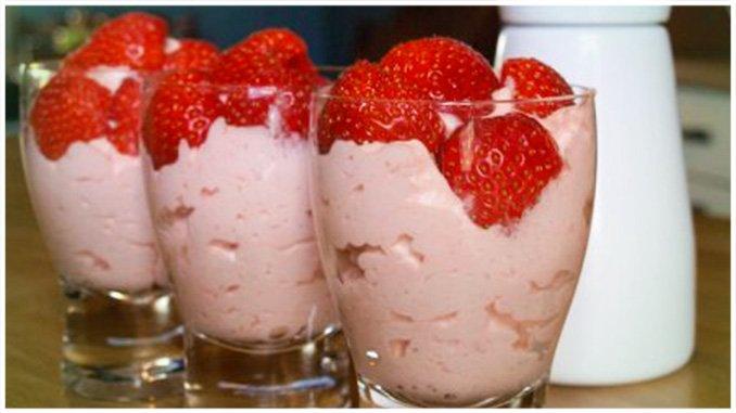 Erdbeer-Dessert zum abnehmen