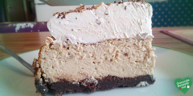 Kalorienarme Kaffee Cheesecake