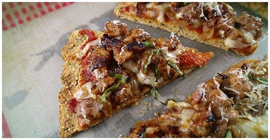 Einfache Leinsamen-Pizza
