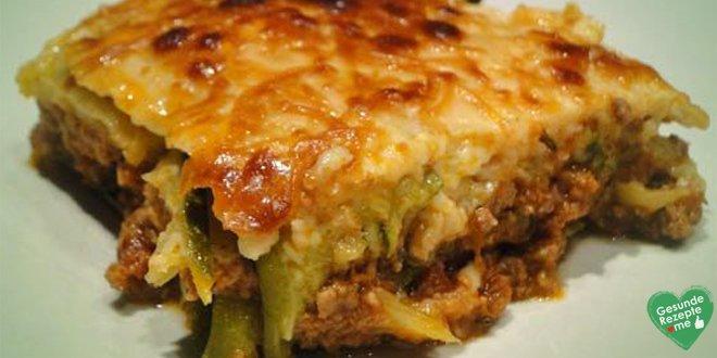 Kalorienarme Zucchini Lasagne